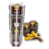 Trader Joe's Hot Chocolate Sticks Dark Chocolate Gift Wrapped 7.04 Oz. Each (Pack of 2)