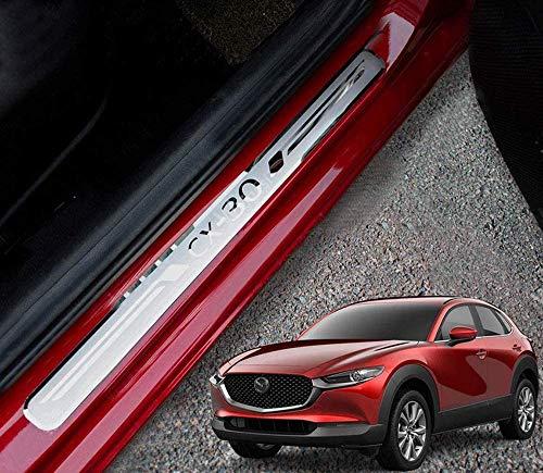 WQSNUB Pedaliera Pedale acceleratore Auto in Lega di Alluminio poggiapiedi Copertura Adesivo Antiscivolo per Mazda 3 CX30 CX-30 2019 2020