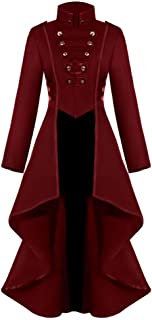 NANTE Top Loose Women's Gothic Steampunk Button Lace Corset Halloween Costume Coat Tailcoat Jacket Womens Cosplay Tops