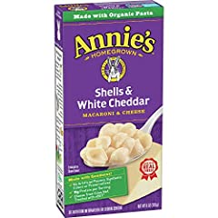 MAC & CHEESE: Our shells macaroni & cheese is made of organic pasta with a creamy real cheese and Annie's shell shape pasta. REAL INGREDIENTS: No artificial flavors synthetic colors, or preservatives. CERTIFIED ORGANIC: Organic cheese from cows raise...
