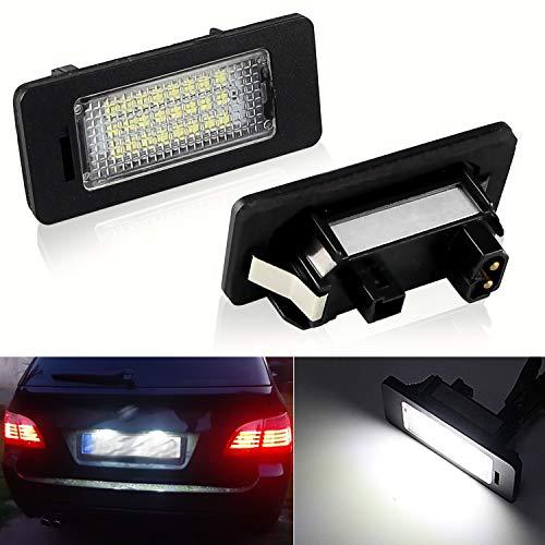 Apmatauto License Plate Lamp 2Pcs Plug and Play Compatible with BMW 1 3 5 Series X1 X3 X5 X6 M3 (E82/F30/F10/525i/F25/ E70) 12V 6000K Pure White Light LED Light