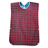 Waterproof Old People Meal Eating Drinking Bib Protector Disability Aid Apron - Red ruiycl...