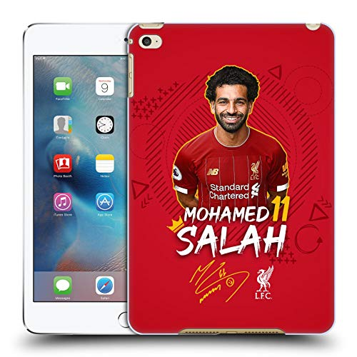 Official Liverpool Football Club Mohamed Salah 2019/20 First Team Group 1 Hard Back Case Compatible for Apple iPad mini 4