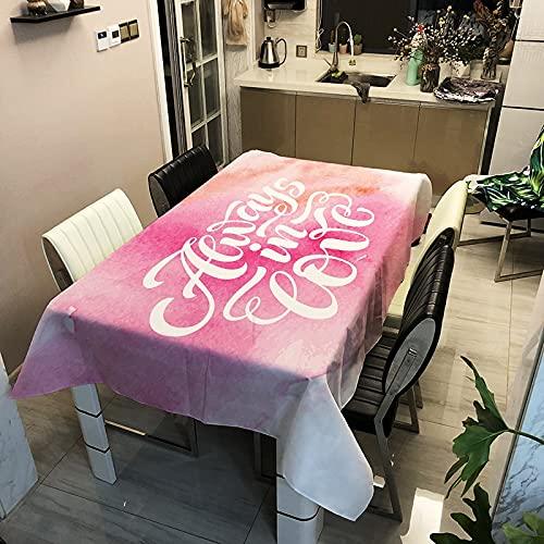 XXDD Mantel Rectangular Impermeable Cubierta de Mesa de Comedor Mesa de Centro para Sala de Estar decoración de Cocina A5 150x210cm