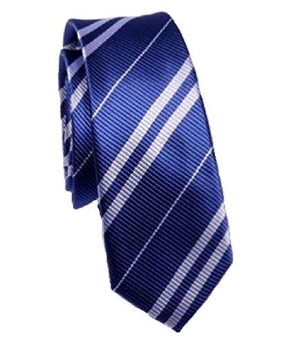 Kai Long Krawatte in den Farben blau und silber gestreift