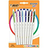 BIC Cristal Up bolígrafos punta media (1,2 mm) – colores Surtidos, Blíster de 8 unidades
