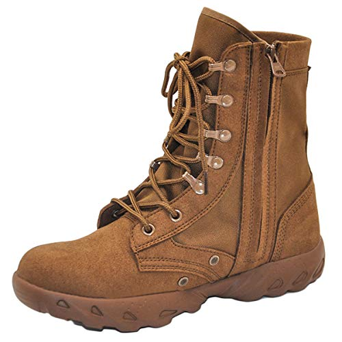 MERRYHE Männer Militärstiefel Desert Combat Boot Tactical Outdoor Mountaineering Camping Wanderschuhe Leichte Herren High-Top-Schuhe,Brown-38