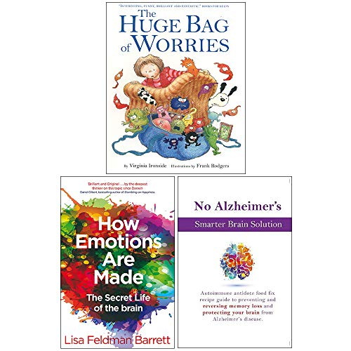 Price comparison product image The Huge Bag of Worries,  How Emotions Are Made The Secret Life of the Brain,  No Alzheimer's Smarter Brain Keto Solution 3 Books Collection Set