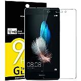 NEW'C 3 Pezzi, Vetro Temperato per Huawei P8 Lite, Pellicola Prottetiva Anti Graffio, Anti-Impronte, Senza Bolle, Durezza 9H, 0,33mm Ultra Trasparente, Ultra Resistente
