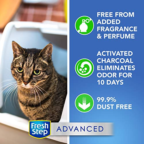 Fresh Step Advanced Simply Unscented Clumping Cat Litter, Recommended by Vets - 37 Pounds (Package May Vary)