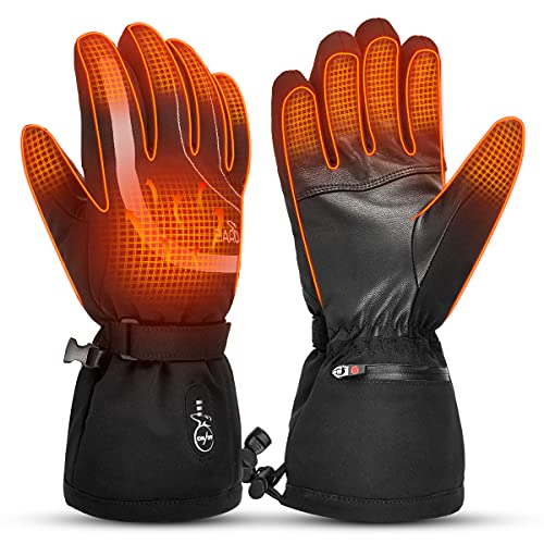 BARCHI HEAT Heated Gloves Rechargeable - for Men Women Electric Battery Heated Motorcycle Gloves for Skiing Driving Raynaud Drthritis Hands