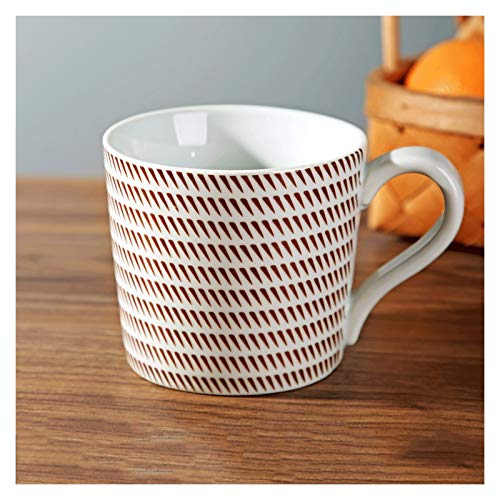 Tazas para niños Taza de estilo retro con mango redondeado Diseño La taza de agua de gran capacidad se puede utilizar para beber leche y juguetes para el uso de la oficina y el hogar. taza de té