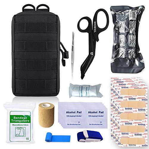 TOUROAM Molle Trauma Erste-Hilfe-Beutel - EDC IFAK Tactical Med Kit, Wilderness Survival