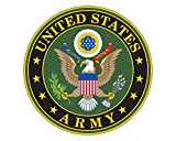 Army Seal Logo U.S. Army Emblem Military 5' Round Vinyl Decal Sticker for Cars Trucks Laptops etc...(Full Color)