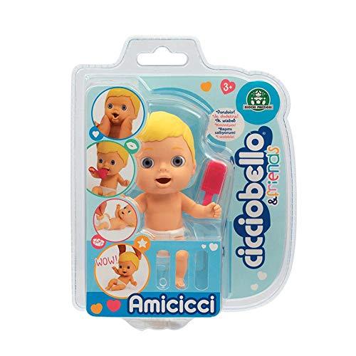 Giochi Preziosi - Cicciobello CCB Amicicci Blister 1, Tenero Bebè Biondo, Mini Personaggio Morbidoso con Accessorio, Multicolore, CC002100
