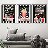 MKWDBBNM 3 Piezas Movie Night Party Logo Posters Home Theatre...