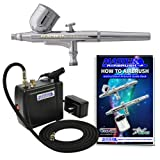 Multi-purpose Airbrush Kit with Mini Compressor, Dual-action Gravity...