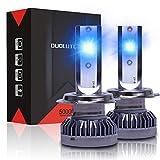DUOLUTONG H7 LED Headlight Bulbs 8000K, Super Bright Blue Headlights, 60W 12000LM Bulb Fog Lights Halogen Replacement, 2 Pack