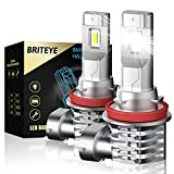 Briteye Bombillas H11 LED Coche 6500K Blanca Luz Antiniebla H9 H8 H16 Lámpara DC 12V/24V Faros Luces LED Coche(2pcs)