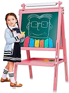 Arkmiido Chevalet pour Enfants en Bois 3 en 1, Tableau de Dessin magnétique Double Face avec axe de Dessin et Rouleau de P...