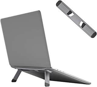 Neetto Laptop Cooling Stand, Aluminum Portable Foldable Ergonomic Notebook Lift Holder for Desk, Table, Compatible with Ma...