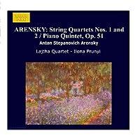 ARENSKY: String Quartets Nos. 1 and 2 / Piano Quintet, Op. 51 by Lajtha Quartet