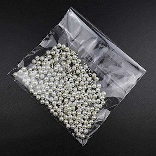 Ningb 200PC 6MM Rivetti di Perle finte Accessori per Indumenti Fai-da-Te Punte di Rivetti di Perle per Cappelli di Stoffa Borsa Artigianato Decor Rivetti, 200PC, 6MM