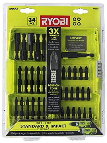 Ryobi AR2024 Impact Driving Kit, 34 Piece