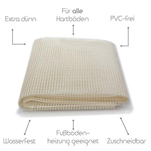 Premium Antirutschmatte ohne Weichmacher | Naturkautschuk | 80x200 cm - Für alle Hartböden, auch...
