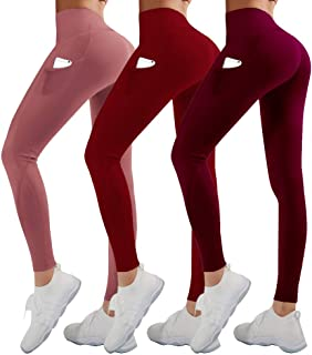 TNNZEET High Waist Yoga Pants with Pockets Full Length Tummy Control Workout Pants for Women 4 Way Stretch Plus Size Leggings