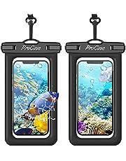 [2 Pack] ProCase Drijvende Waterdichte Telefoon Case Pouch, Floatable Waterdichte Droge Bag, voor iPhone 12 Pro Max 11 XS XR 8 7 Plus Galaxy Pixel, voor Strand Zwemmen Kajak -Zwart