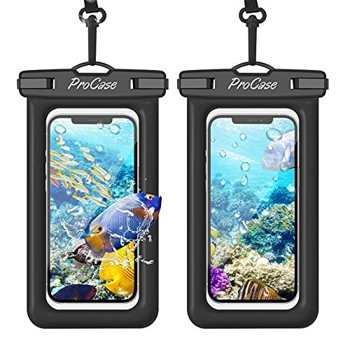 ProCase Floating Waterproof Phone Pouch, Universal Float Waterproof Case Underwater Dry Bag for...