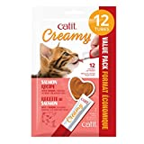 Catit Creamy Lickable Cat Treat - Salmon Flavour - 12 Pack