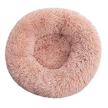 HYFDGV Lit Moelleux Rond pour Chien Extra Large Lavable avec Coussin Deluxe Panier Chien Coussin Panier Donut lit pour Chien Grande Taille Lit pour Animaux de Petite Moyenne et Grande Taille,Q,120CM