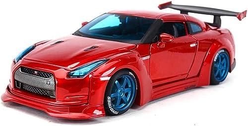 Le modèle des véhicules à moteur de moulage mécanique sous pression, le rapport Niss00an GT-R de 1 24 est fait d'alliage for la décoration d'intérieur, la porte peut être ouverte