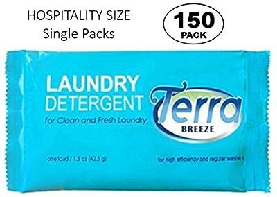 Terra Breeze Laundry Detergent Powder - 1.5 oz Packet (Case of 150)