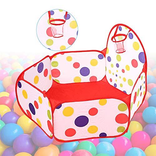 NCONCO Tienda de campaña de juguete portátil de dibujos animados para bebés bolas de piscina Pop Up Kid al aire libre tienda (cesta de 90 cm)