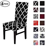 Dining Chair Cover Seat Protector Super Fit Slipcover Stretch Removable Washable Soft Spandex Fabric for Home Hotel Dining Room Ceremony Banquet Wedding Party Restaurant (Color 11, 4 Per Set)