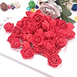 talkyou aszx 100pcs foam rose flower head,mini 3d artificial artificial flowers without stem for handmade diy wreath craft wedding party home decor gifts(10)
