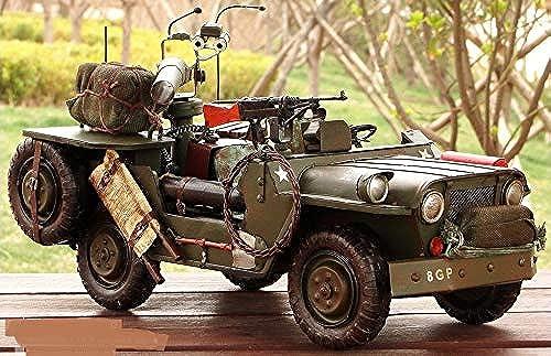 punto de venta barato MINICARS 1 10 Jeep Willys 1941 Metal 38 cm cm cm Hecho A Mano con Brazos y Equipaje US Army  comprar mejor