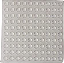 HASTHIP® Round Adhesive Silicone Bumper Door Cabinet Drawer Safety Stopper Mute Buffer (3x8 mm, Clear) -Set of 100 Pieces, 1 Sheet