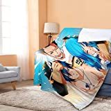Inhomer MantaFairy Tail Grey Fullbuster Manta Juvia Lockser Anime Sherpa Impreso Franela Fleece Manta Throw Ultra Soft Warm Blanket para Cama/Sofá 150X200cm - 362