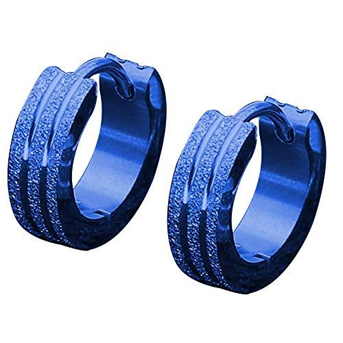 XQxiqi689sy Squisito moda Unisex Carbon Acciaio Rotondo Levigia Orecchio Clip Huggie Orecchini Gioielli Regalo