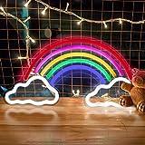 Regenbogen LED Leuchtreklamen, trounistro Bunte Neonlampe Nachtlichter, USB-betriebene Leuchtschilder für Weihnachten Geburtstagsfeier Kinderzimmer Hochzeit Party