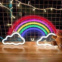Nettes Zimmer Neonleuchte --- Dieses schöne regenbogen leuchtreklame besteht aus HIPS + PVC-Material, das wasserdicht und langlebig ist. Im Vergleich zu herkömmlichen glas neon licht bringt diese neonschild für wand mehr Helligkeit und mehrere schöne...