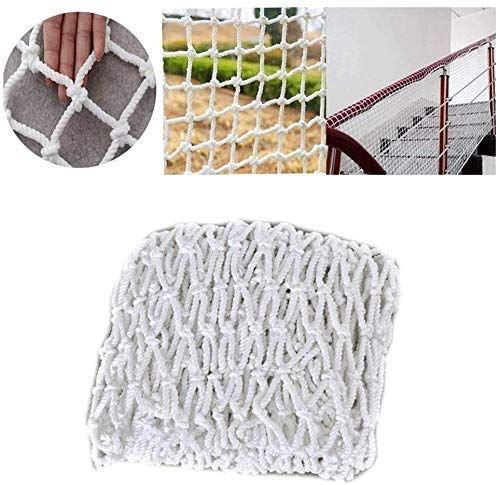 DPPD Natural Hemp Decoration Net Sturdy Net Safety Net Child Protective Net Net Wall Balcony Stair Shatter-resistant Net Hammock Cotton Rope Bird Rope Net Rope Thickness 4mm Mesh 5cm WhiteColour: