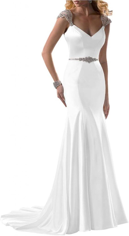 Angel Bride 2016 New Dresses Wedding Dresses Satin Mermaid Long Dresses
