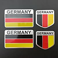 4PCSドイツ国旗自動車トランクサイドテールゲートタンクエンブレムバッジデカールステッカー