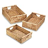 Accent Plus Water Hyacinth Nesting Basket (Set of 3) 20.5', 18', 16.25'