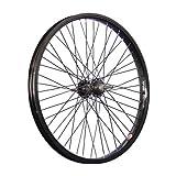 Taylor-Wheels 20 Pouces BMX Roue arrière vélo Noir 48 axe traversant Noir